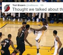 The Trail Blazers aren't mad about Draymond Green's kicking, they're just disappointed