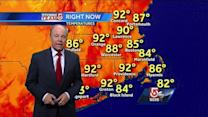 Harvey's sweltering Boston-area forecast