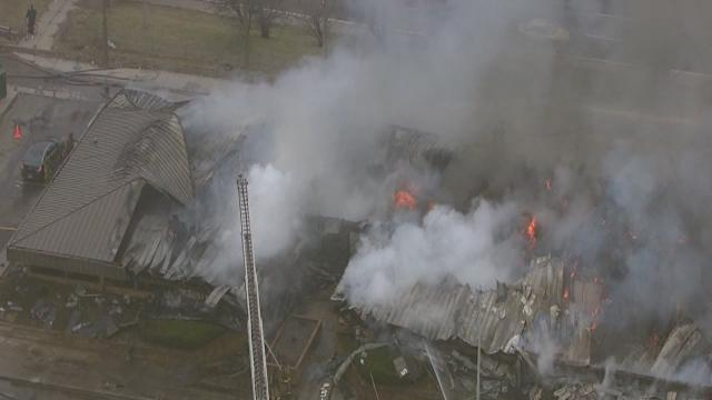 Fire at medical facility in Detroit