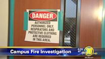 Students return to classrooms following a fire at CWHS