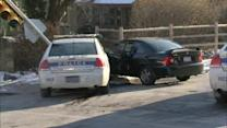 Officer injured in East Mt. Airy crash