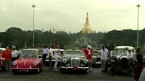 Classic car enthusiasts flock to Myanmar for road trip