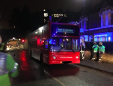 Roof of double-decker bus ripped off after crashin