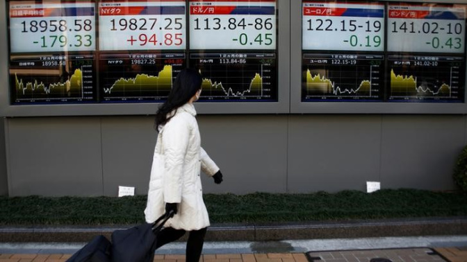 Asia stocks drift down from two-year highs