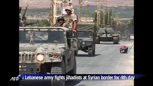 Lebanese army battle jihadists for a fourth day