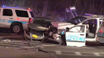 Yonkers police cruiser involved in 6-car crash
