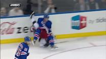 Anton Stralman flips Brown with hit