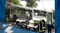 Disaster & Accident Breaking News: Eighteen Killed After Truck Ploughs Into Bus Outside Moscow