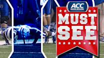 Duke's Jamison Crowder Does Pushups On Sideline At Chick-fil-A Bowl | ACC Must See Moment