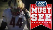 BC RB Andre Williams Flips for 1st Down | ACC Must See Moment