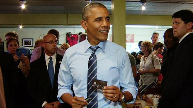 Obama mocks GOP leaders, apologizes for cutting in line at Texas barbeque