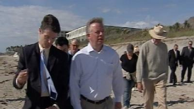 Lt. Governor Takes Tour Of Beach Erosion