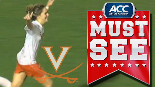 UVA's Morgan Brian Scores Game-Winning Goal In Double Overtime | ACC Must See Moment