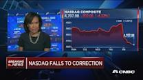 Nasdaq ends in correction