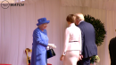 President Trump and wife Melania meet Queen Elizabeth for the first time