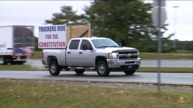 Truckers rally for the constitution in Washington D.C.