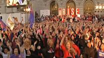 Big crowd celebrates One Billion Rising at City Hall