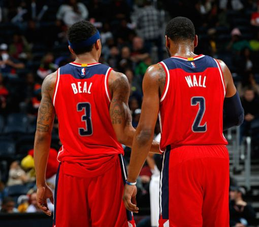 John Wall isn't 'watching' the money Bradley Beal and James Harden make