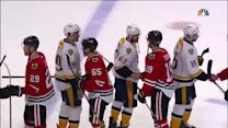 Predators and Blackhawks handshake