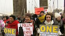 Moms March Over Brooklyn Bridge for Gun Control