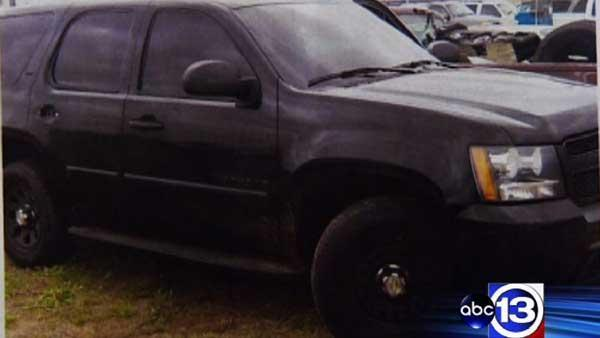 Fake police SUV used missing Pct. 6 license plate