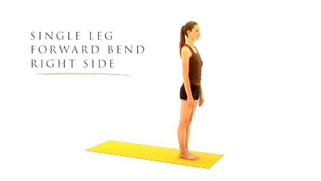 Single Leg Forward Bend Right