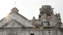 Raw: 16th-Century Church Damaged in Earthquake