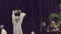 College 'bros' pull off stunt at commencement