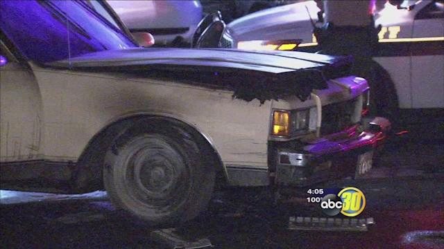 Fresno ID theft suspects arrested after chase; fiery crash