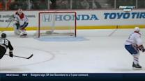 Beauchemin's lucky bounce from center ice