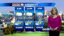 Light sprinkles, cooler air arrive for your Saturday