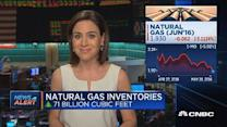 Natural gas inventories up