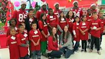 49ers, Visa take kids on holiday shopping spree