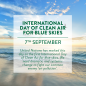 Camfil US Supports Clean Air Vision - Joins The Very First International Day of Clean Air for Blue Skies
