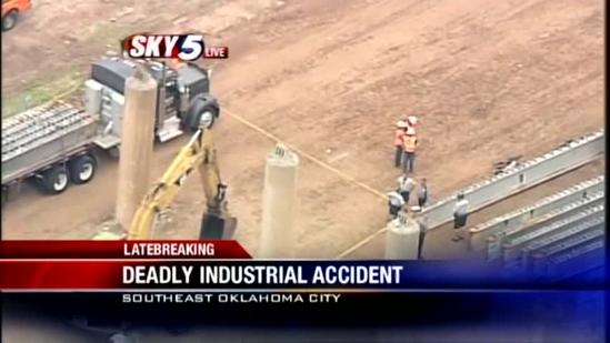 1 killed in industrial accident near downtown OKC