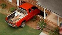 Toddler Steals Dad's Truck, Smashes Into Nearby Home