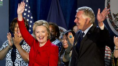 Hillary Clinton Campaigns in VA for McAuliffe