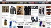 Pinterest & Instagram to add buy links