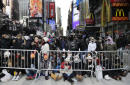Thousands gather in cold ahead of Times Square's 2018 party