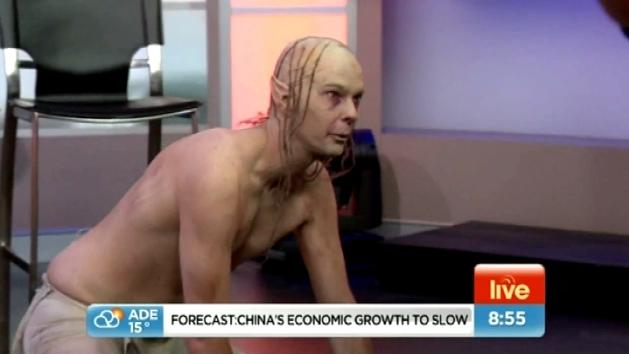 Gollum scares Sunrise hosts in hilarious prank