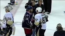 Penguins and Blue Jackets Handshake