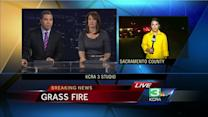 Grass fire burns 35 acre in South Sacramento