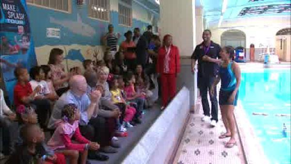 Olympian teaches children the safety of swimming