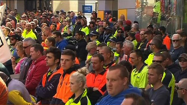 Workers defend Melbourne protest