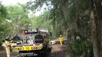 Hillsborough Co. Fire Rescue battle brush fire in Lithia
